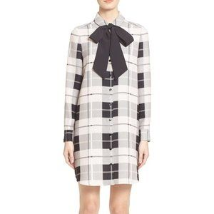 Kate Spade Griffin Plaid Dress with Bow Tie
